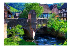 Kaysersberg - bridge by malaskor