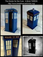 Breast Cancer Brick - TARDIS by CaelynTek