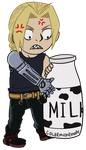 Little Ed Vs Milk by ColorMyMemory