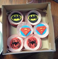 Superhero Cupcake Toppers  4-5-14 by Qess