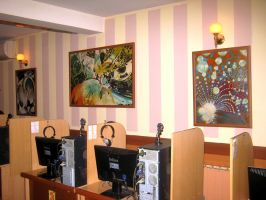 My Art in Internet cafe by artsoni