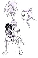 Toph and Sokka by LadyProphet