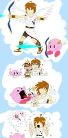 SSBB: Pit and Kirby are BFFLS by icecream-soup