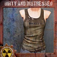 Moldy Green Wasteland Tank Top by DirtyandDistressed