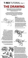 T-Rex Tut Pt 1: Drawing by Tonygenio