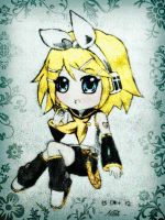 Rin Kagamine chibi by moccaholic