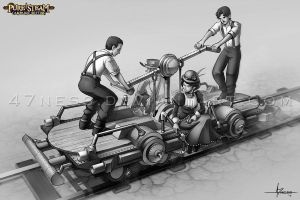 PURE STEAM: Handcar by 47ness