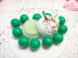 Chocolate Mint Lip Balm by lessthan3chrissy