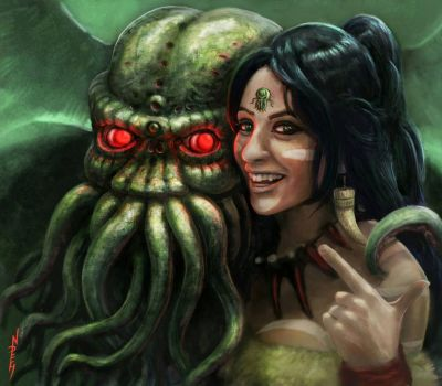 Tabitha and Cthulhu.. by NickHerbert