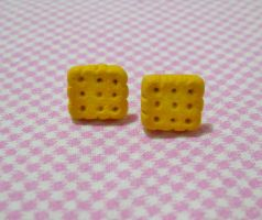 Biscuits Earrings by MarzapanArt