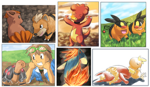 Fire Types by totodos