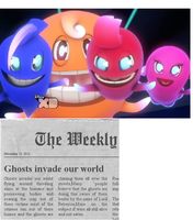 Newspaper Clipping about a Ghost Invasion. by Smurfette123