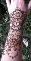 Henna Flower Gauntlet Version 2 by flowerwills