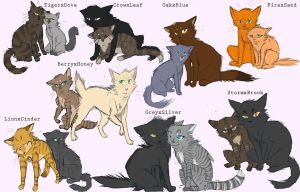 favorite warrior cat couples by Jaewolfeh22z