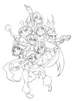 WayForward Tribute - Lineart by Kouken