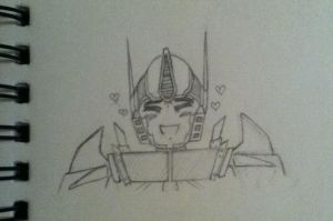 Chibi Optimus loves you by Lil-9