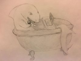 Shark in the Tub by LizzyDuffy
