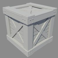 Wooden Crate High poly by HaagNDaaz