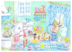 Pancakes in moomins kitchen by jkBunny