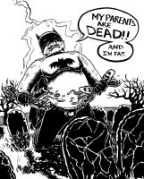 Fat Batman by Mecid