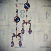 Copper Dragonflies Earrings by Verope