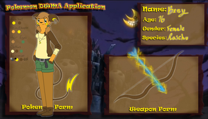 PKMN DWMA -- Benedicte Dixon: Weapon Application by kay-kitty-smiles