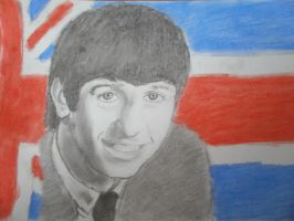 Ringo Starr drawing by SuperNikolai1996