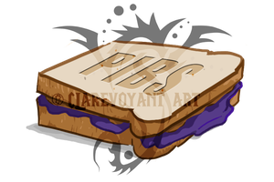 PBJ sandvich for Pibs by E-Pendragon