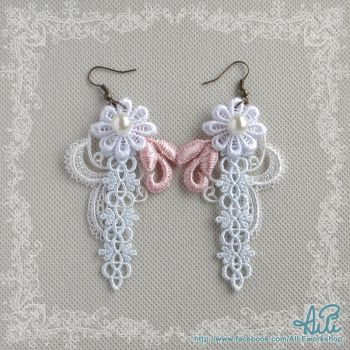 Light Color Lace Earrings by aileore