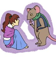OUaT- Thumbelina and Timothy Mouse by InTheAier