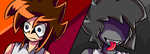 MSpaint of StickBlue and Amegada by RemasterModule