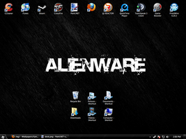 Alienware Desktop with icons by NotoriousRay