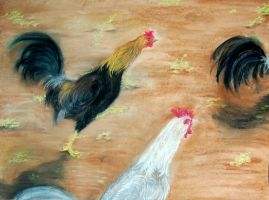 Pastel Roosters by Crazynerds