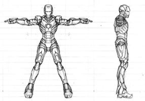 Iron Man Set Pose by sinDRAWS