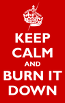 Keep Calm and Burn It Down by Domain-of-the-Public