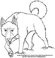 New Canine LineArt 22 by DragonHeartLuver