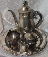 Silver Tea Service 02 - Stock by Thy-Darkest-Hour