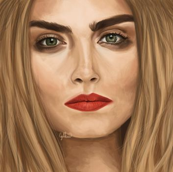 Cara Delevigne by Cyllenne