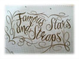 famous stars and straps lettering by smurfpunk