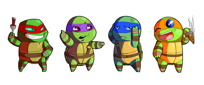 Teenage Mutant Pixel Turtles by PowderAkaCaseyJones