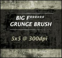 BIG F GRUNGE BRUSH by joezerosum