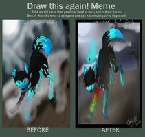 Draw this AGAIN MEME .:Ready for halloween:. by opaleyedwolf