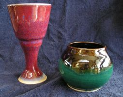 goblet and candle holder by hoviemon