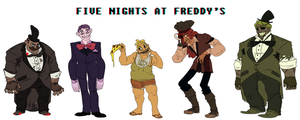 FNAF Humanized by mellow-monsters