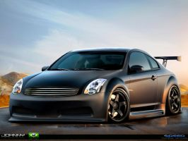 Infiniti G35 black matte by Johnny-Designer