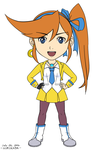 Freebie: Athena Cykes Colored Chibi Sketch by hirokada
