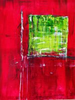red-green-abstract art by GruenwaldArt