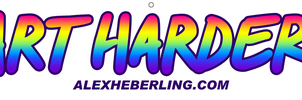 Art Harder table banner by alex-heberling