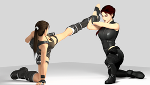 Lara 'n' Doppy Fightin' Retake by vinc3nt187