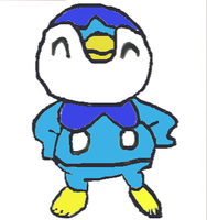 hand drawn piplup muro fix with color by juancarlo577